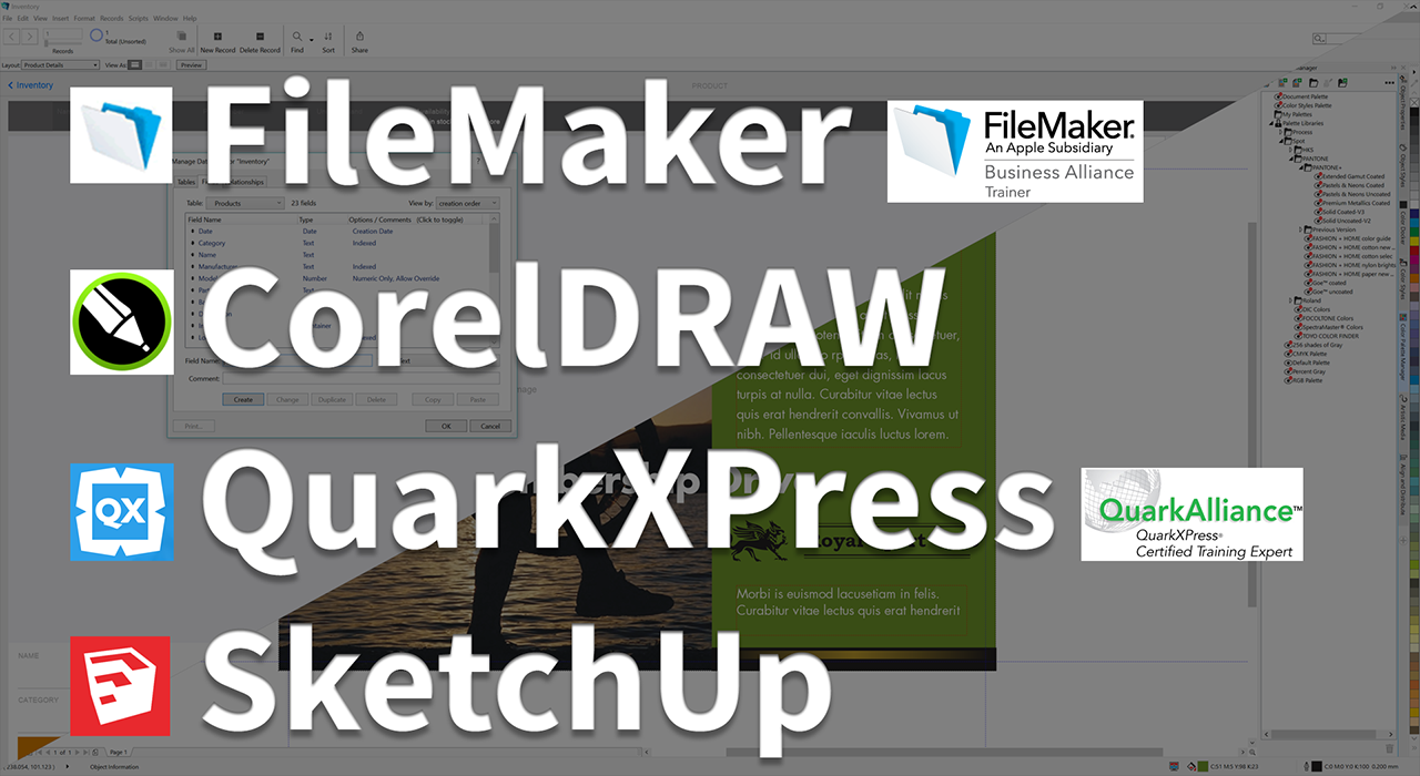 FileMaker, Quark, and more